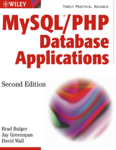 MySQL/PHP Database Apps